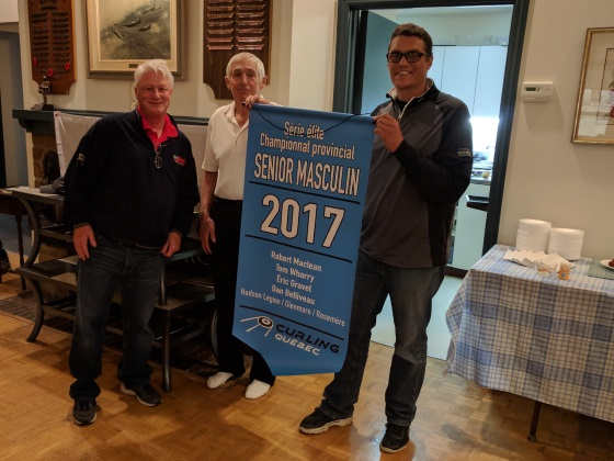 2017 QC Senior Men's Championship banner presentation
